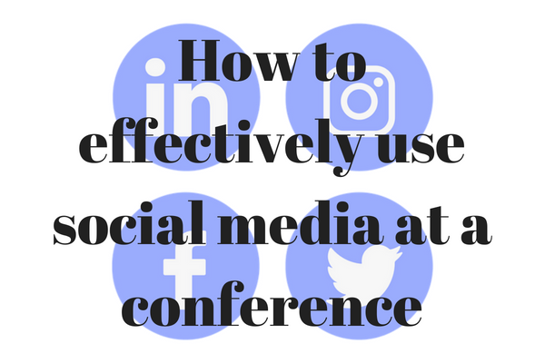how to best use social media at a conference
