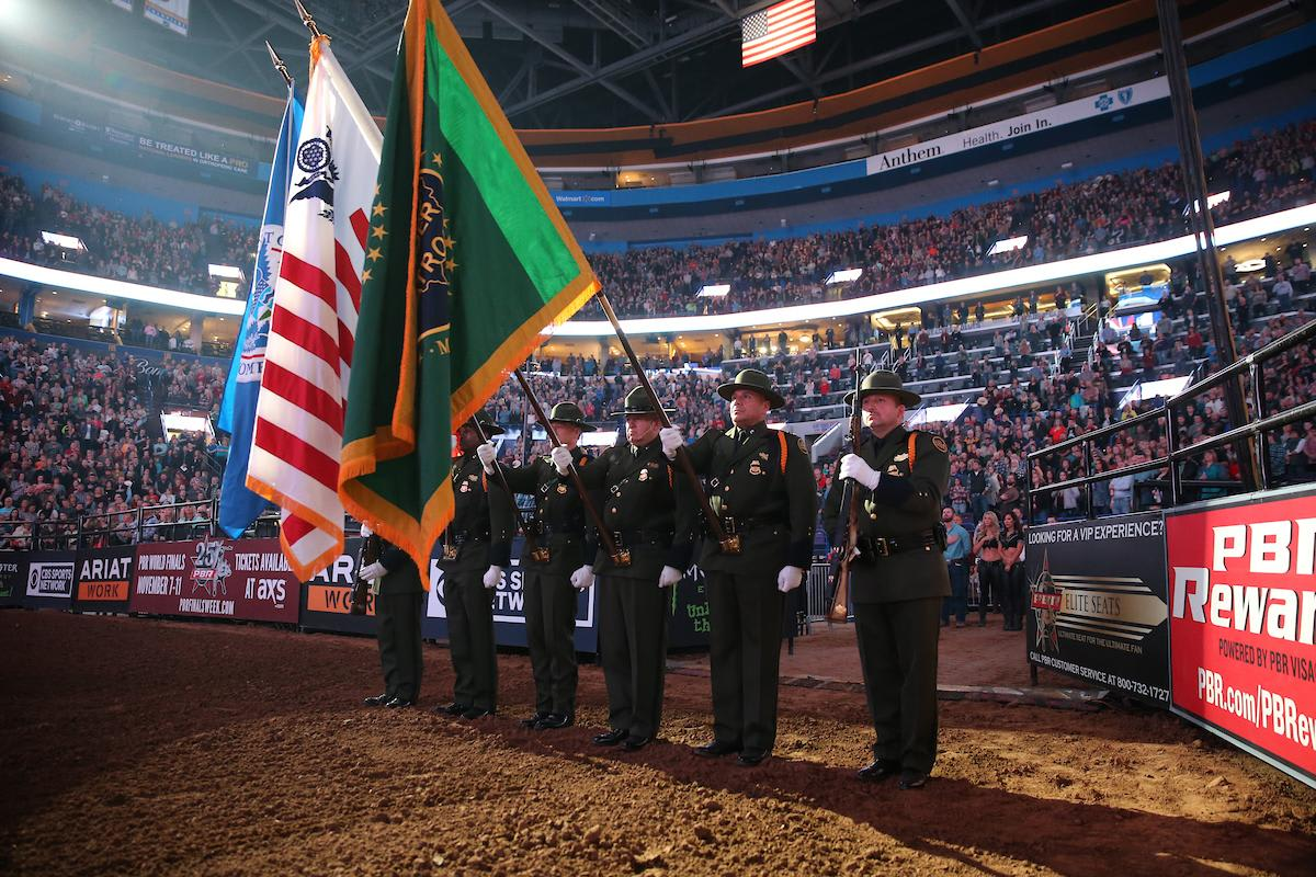 U.S. Border Patrol Honor Guard during the opening of the first round in St. Louis. Photo by Andy Watson