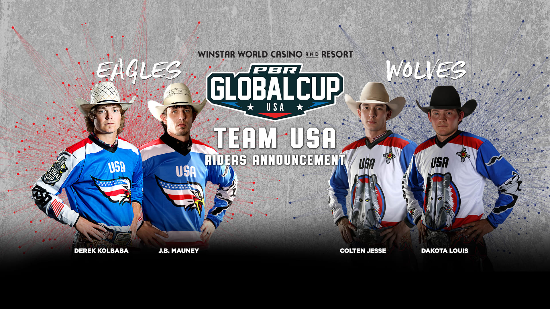 Two-time PBR World Champion J.B. Mauney selected to Team USA-Eagles at 2019 PBR Global Cup USA