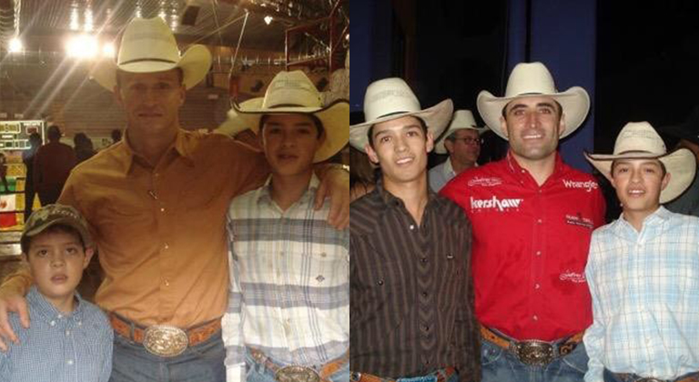 Esteban Bustamante with Ty Murray and Guilherme Marchi