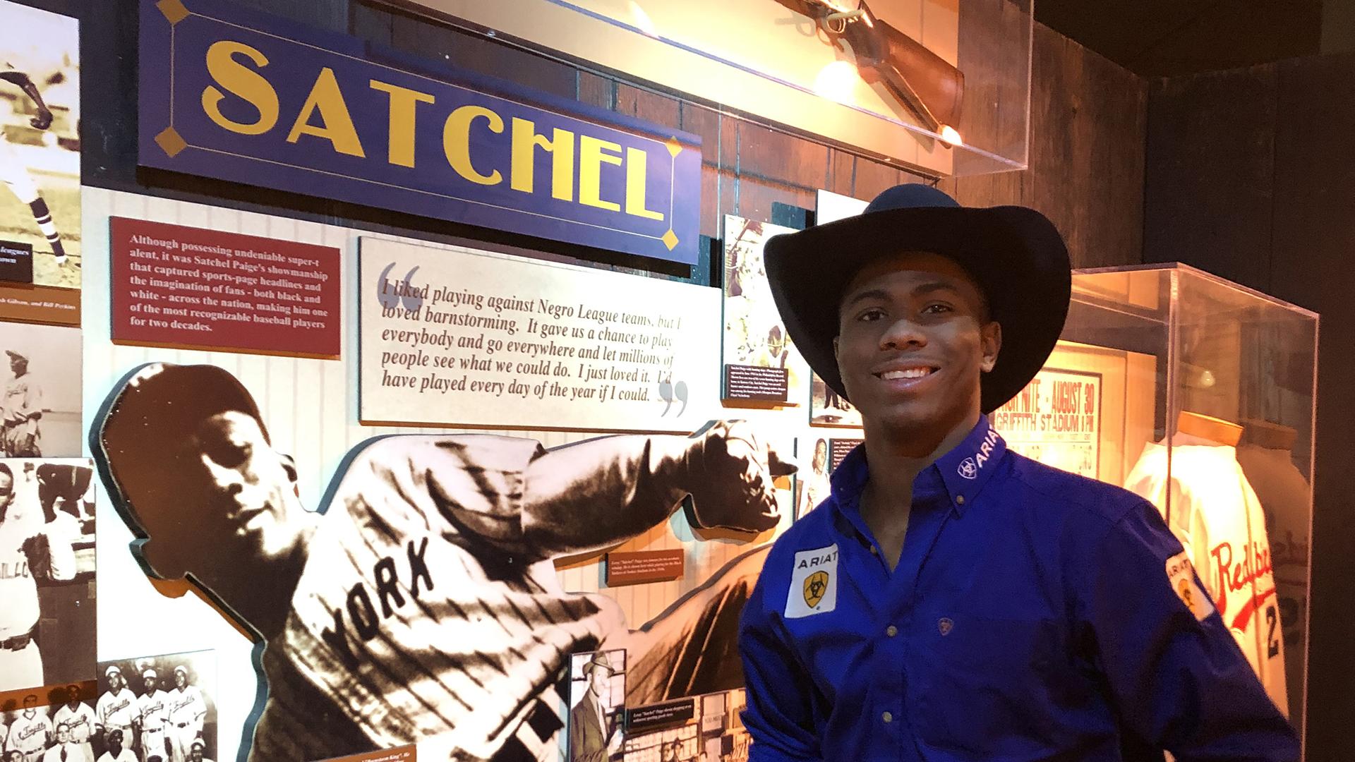 Mitchell enjoys touring Negro Leagues Baseball Museum