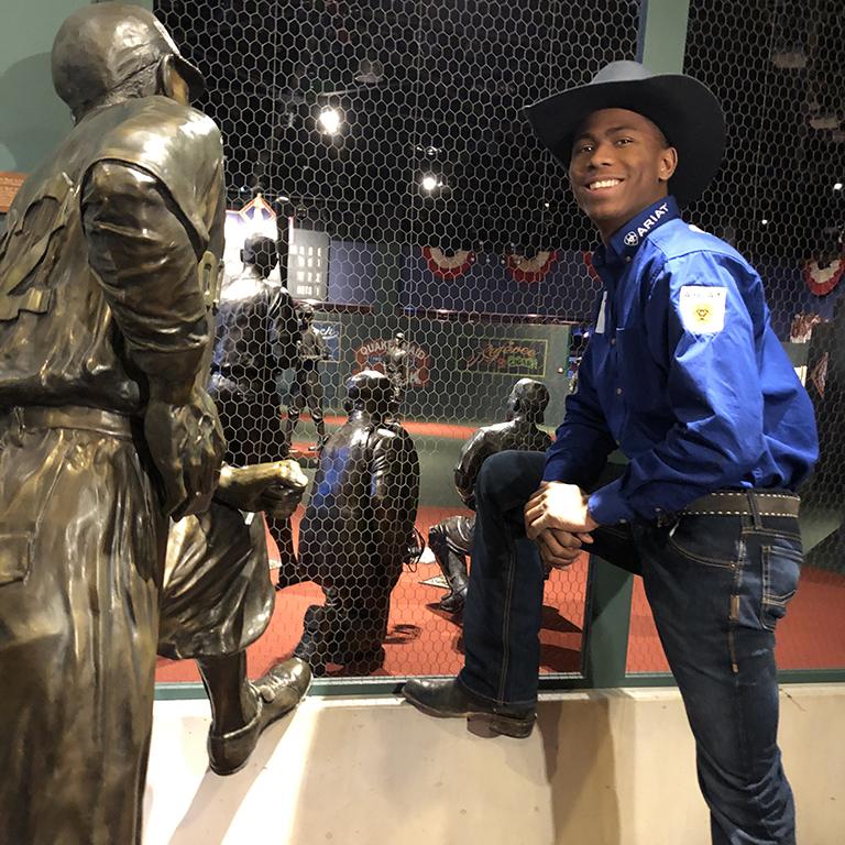 Ezekiel Mitchell at the Negro Leagues Baseball Museum