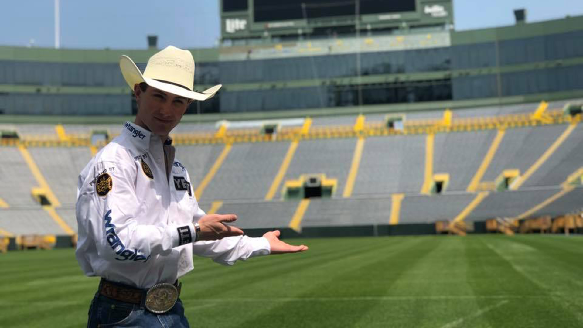 Lockwood tours Lambeau Field, finishes Round 1 in second place