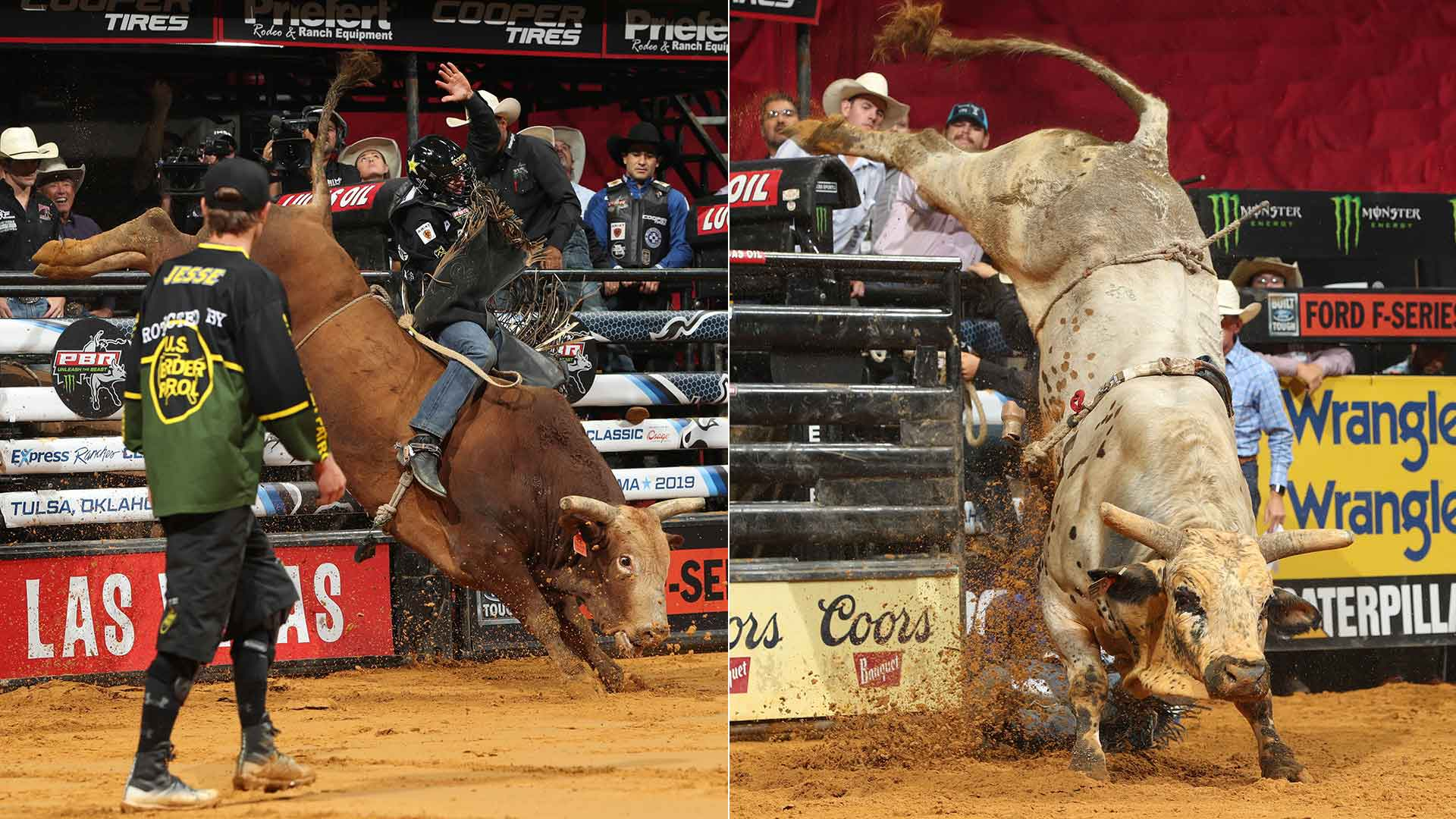 The LVCVA Road to Vegas: Smooth Wreck and Smooth Operator neck and neck in YETI World Champion Bull Race