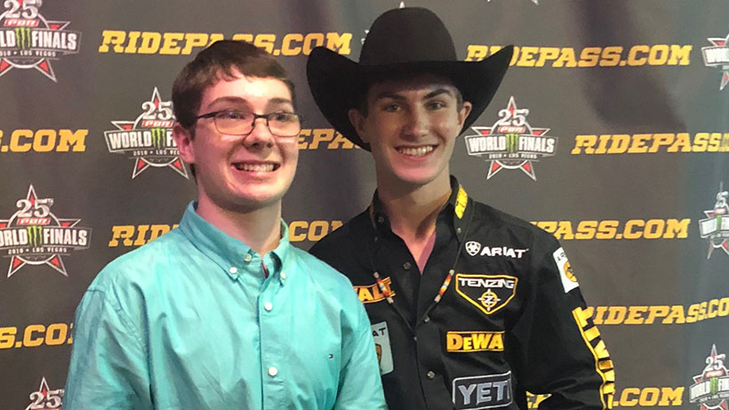 Ethan Brown with Jess Lockwood