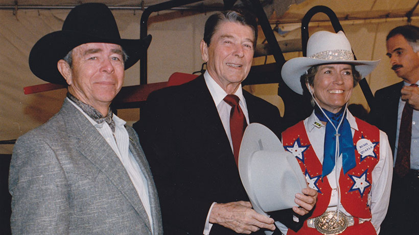 Neal Gay and Ronald Reagan