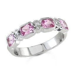 Pink Sapphire Band Ring