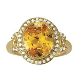 Garnet Rings Yellow Gold