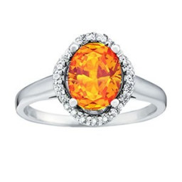 Citrine Stone Engagement Ring