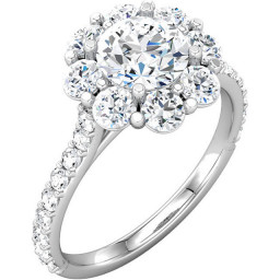 Pave Gold Engagement Rings