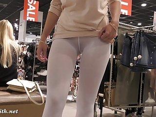 Jeny Смит - белый колготки SpyCam