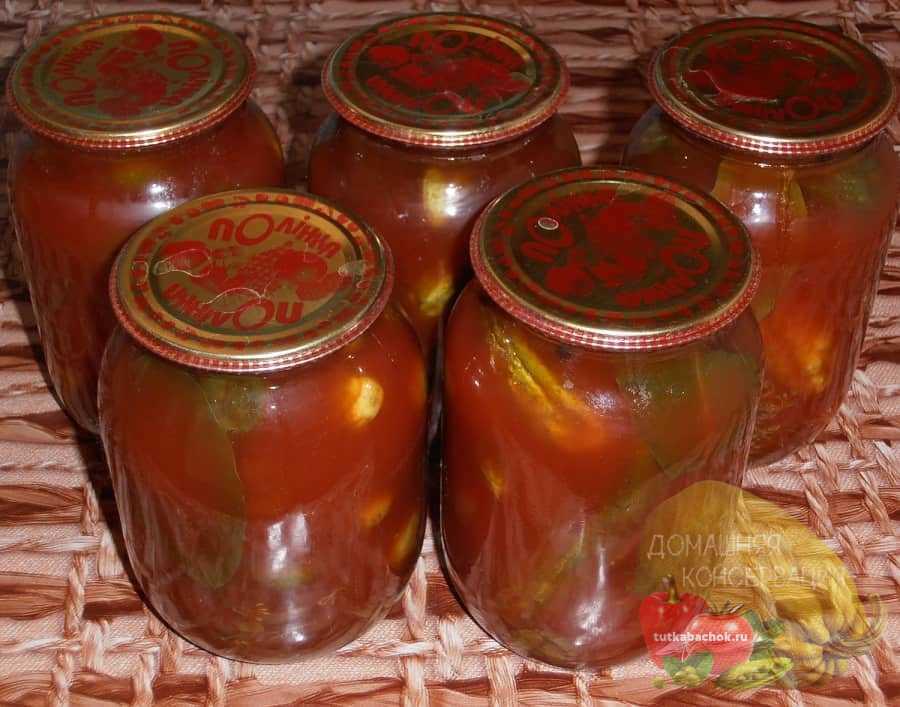 Ogurcy v tomatnom soke na zimu obaldennye recepty bez sterilizacii