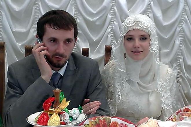 Мария Алалыкина на свадьбе
