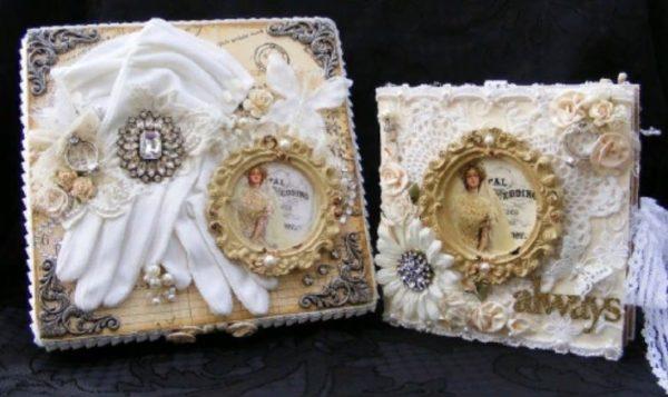 Перчатки невесты как элемент декора обложки