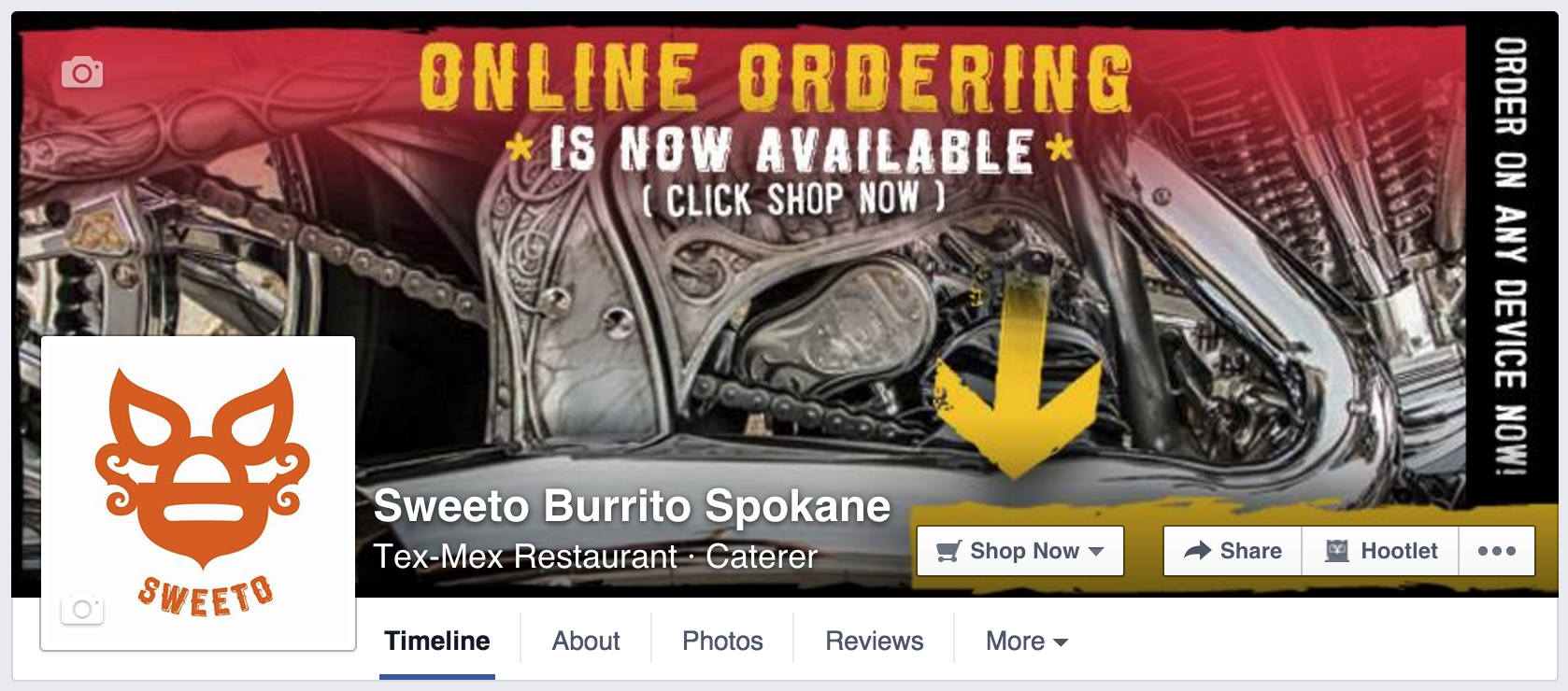 Sweeto Burrito - Facebook