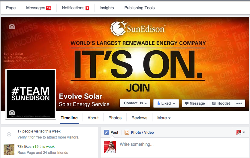 Evolve Solar - Facebook