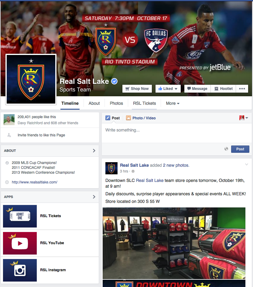 Real Salt Lake: Facebook