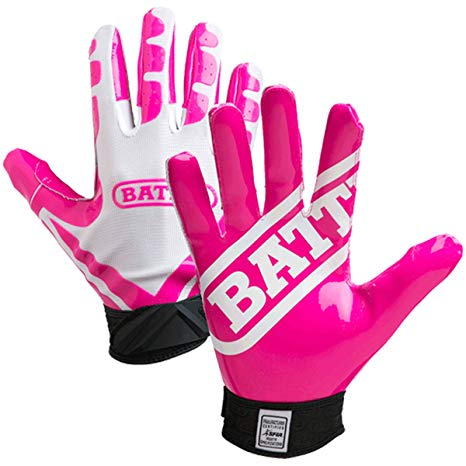 Football gloves youth pink
