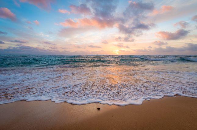 Kauai beach sunrise