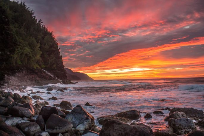 Kauai sunset (c) by Anne Lowrey