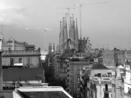 La Sagrada Familia in Black and White