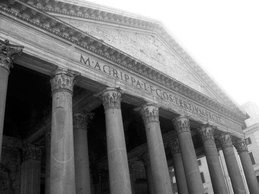 Pantheon Rome Black and White