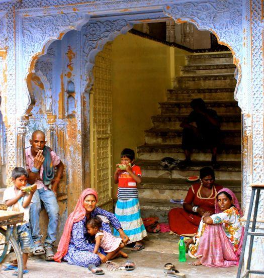 Family in Pushkar, India