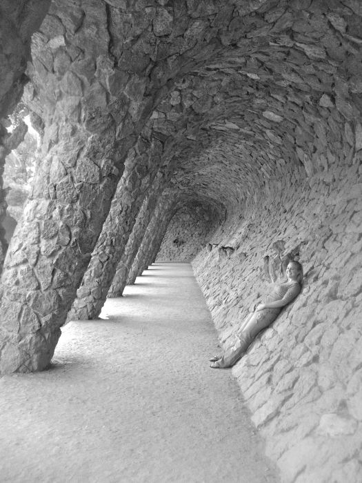 Parc Guell - Barcelona in Black and White