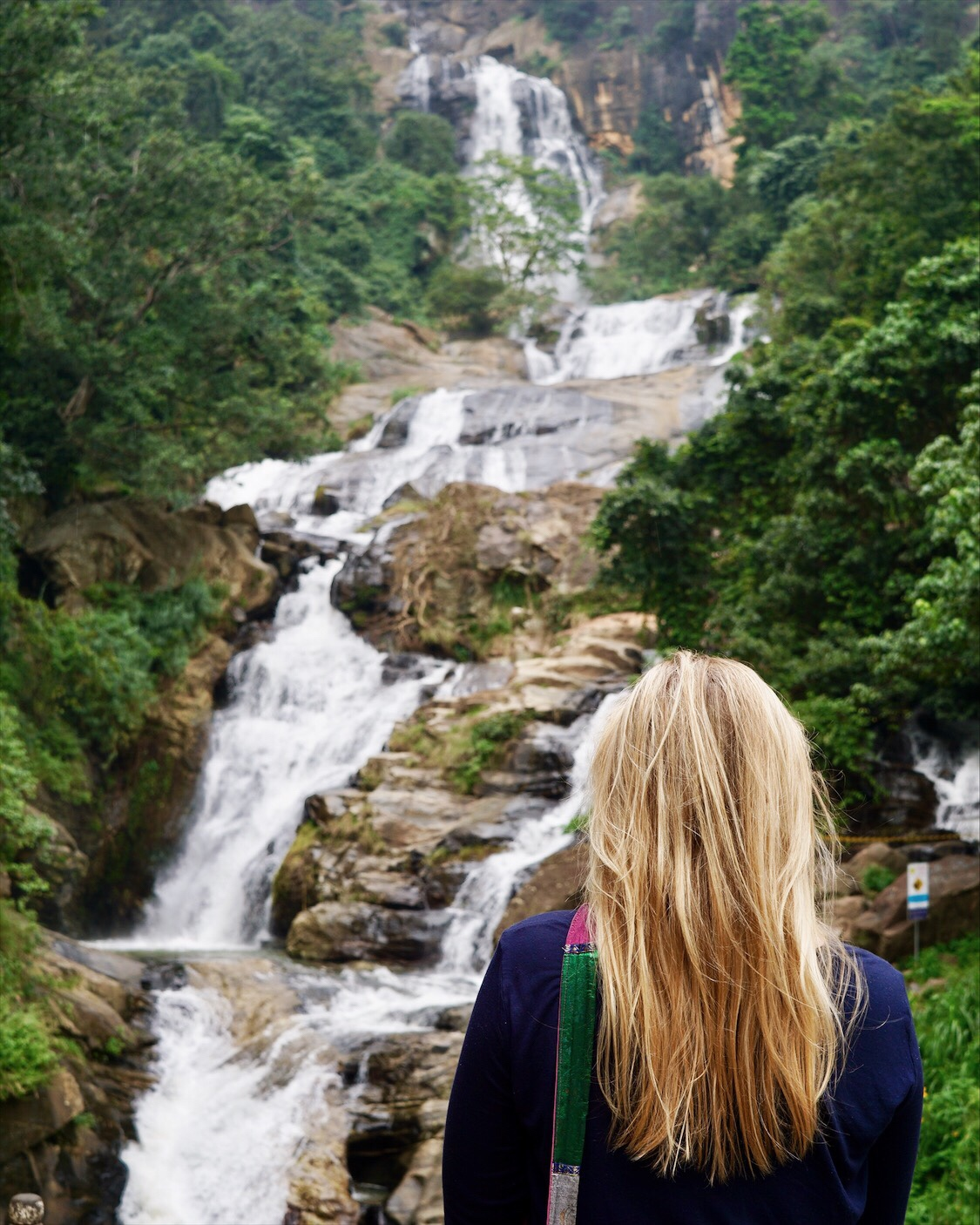 waterfall in ella, sri lanka