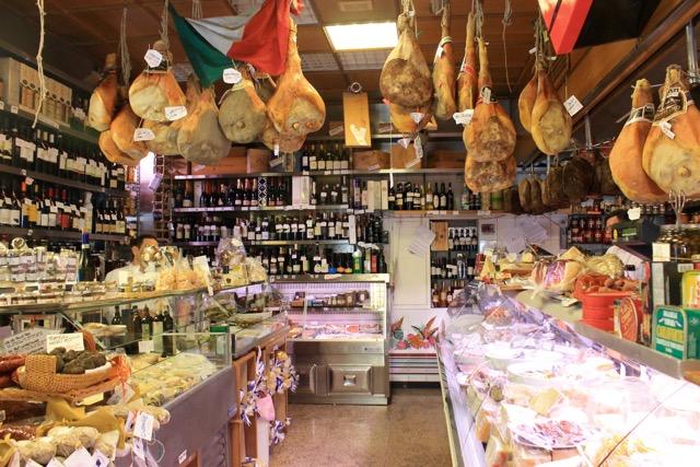 Inside Volpetti deli, Rome