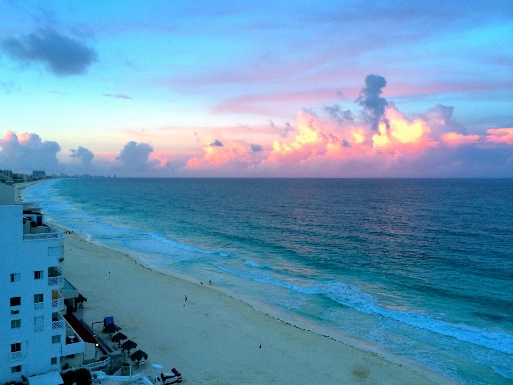 cancun sunrise view