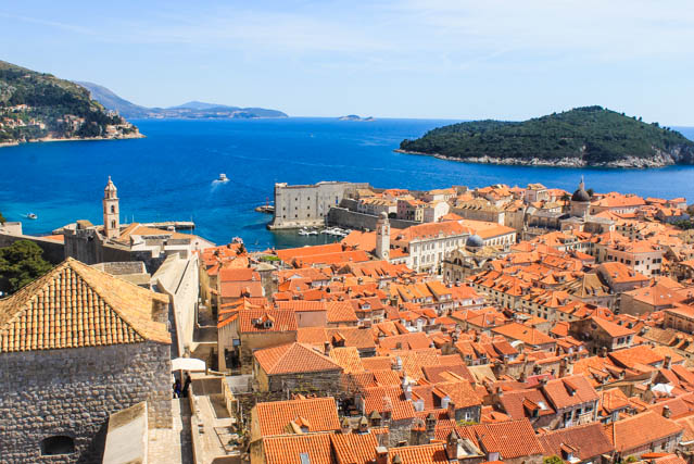 Dubrovnik old city walls view