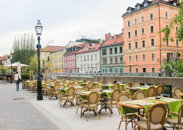 Dining al fresco in Ljubljana