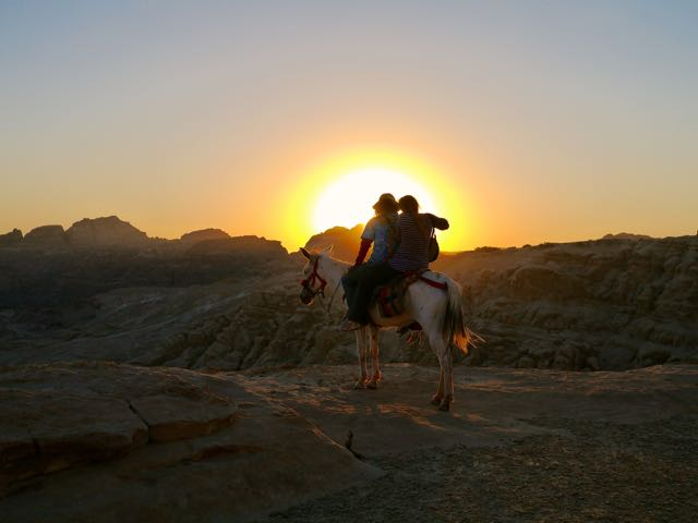 Sunset in Petra