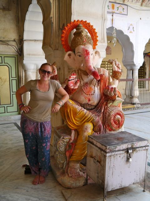 With Ganesha!