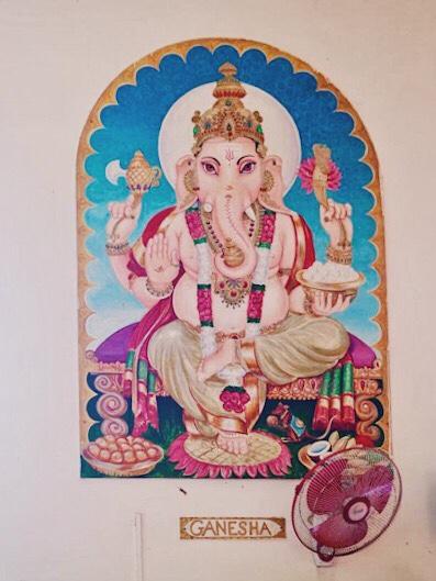 Ganesha in Indian ashram