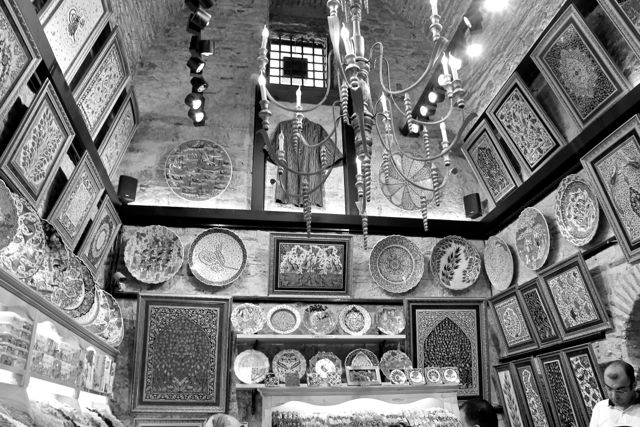 Istanbul market Black and White photos