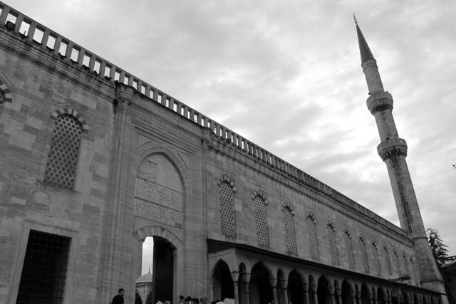 Istanbul mosque Black and White photos