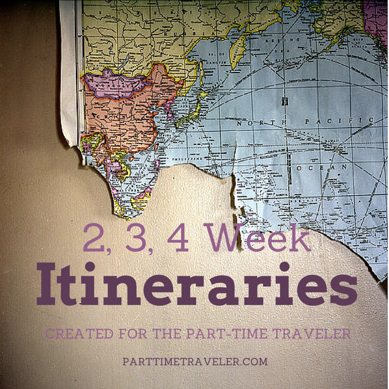 itineraries by part time traveler