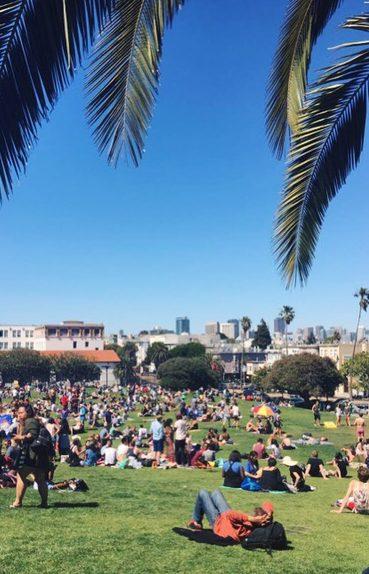 Dolores Park view, San Francisco