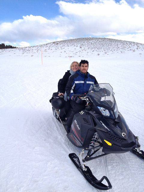I extended my business trip to Denver to include Vail, and went snowmobiling!