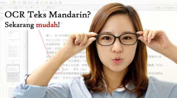 OCR teks mandarin mudah dengan scanner plustek