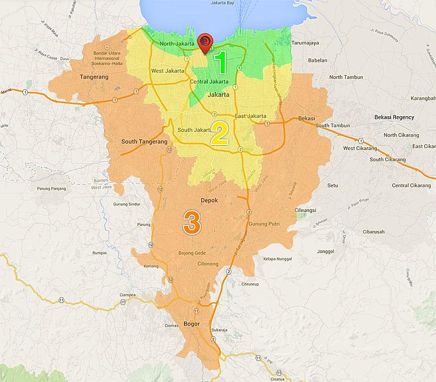 Area Jasa Antar-Jemput Barang Service
