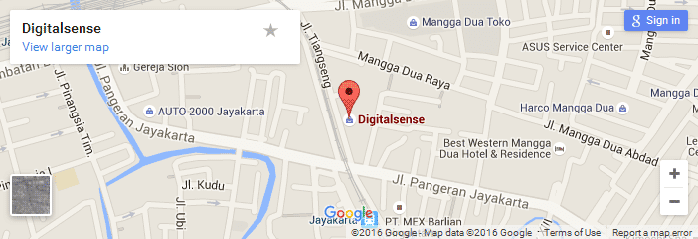 lokasi digitalsense headoffice dipeta google