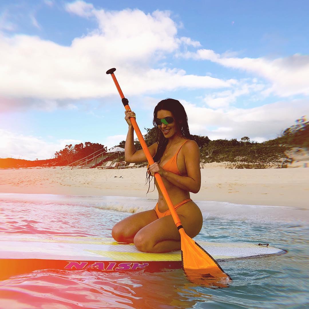 Kim Kardashian on Beach