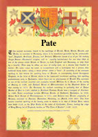 Pate family crest