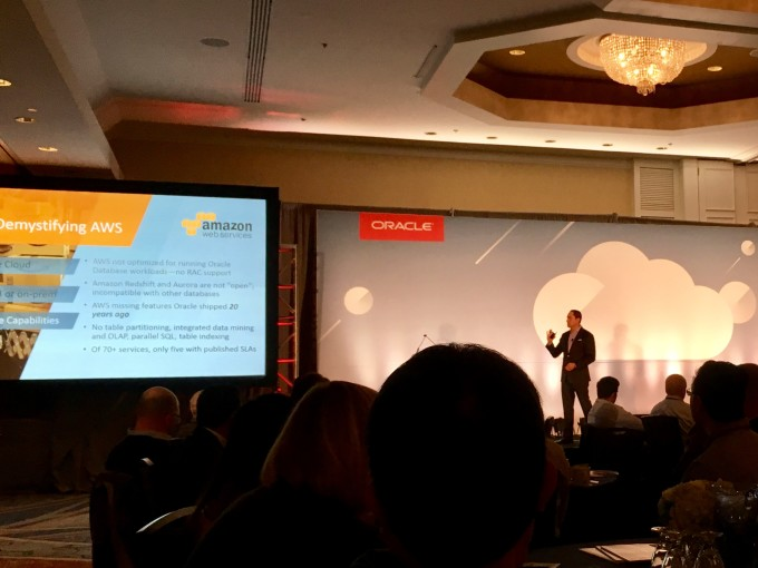 Notes from Oracle Cloud Day