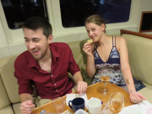 Pre-Dinner Snacks on the boat