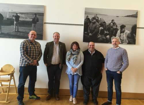Shetland Fellows: L-R Mat Roberts, Neil McLennan (RSA Fellowship Councillor), Ingrid Webb, Graeme Howell, Lewis Shand Smith