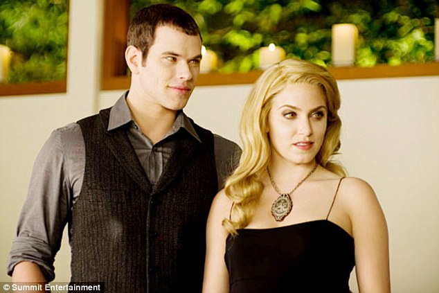 A lot to live up to: Nikki Reed said playing the character of Rosalie in Twilight (pictured) made her doubt if she was pretty enough
